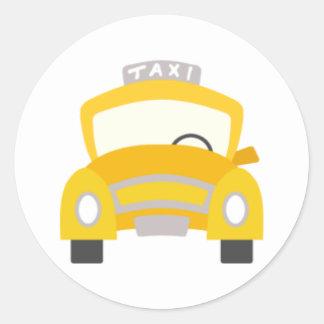 Taxi Print Classic Round Sticker