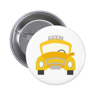 Taxi Print Pinback Button