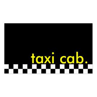 taxi. (raya a cuadros) tarjetas de visita