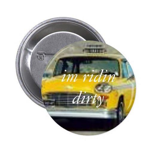taxi, ruedo en estilo… - Modificado para requisito Pin Redondo 5 Cm