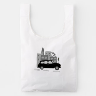 Taxi Scene Reusable Bag