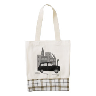 Taxi Scene Zazzle HEART Tote Bag