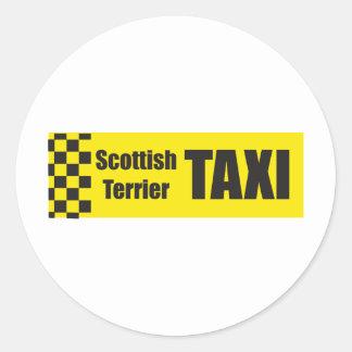 Taxi Scottish Terrier Sticker