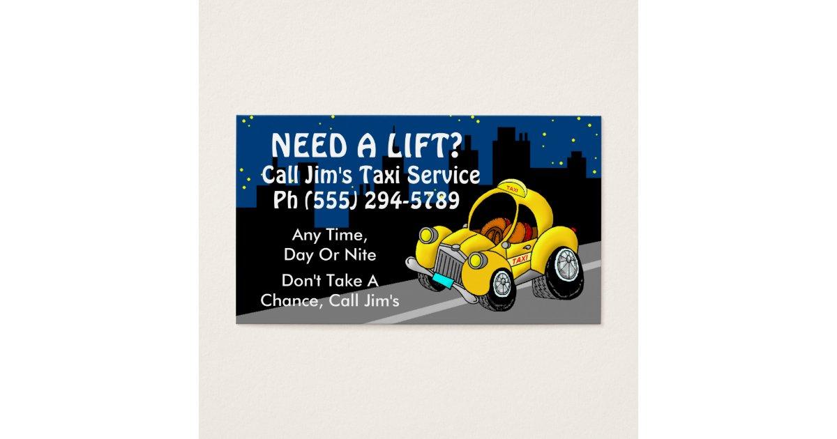 Taxi Service Business Card   Zazzle.com