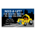 Taxi Service Double-Sided Standard Business Cards (Pack Of 100)