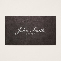 Taxi Service Elegant Leather Professional Driver Business Card at Zazzle