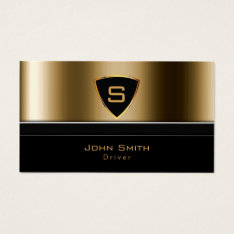Taxi Service Luxury Gold Monogram Driver Business Card at Zazzle