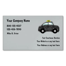 Taxi Service Magnetic Business Card at Zazzle
