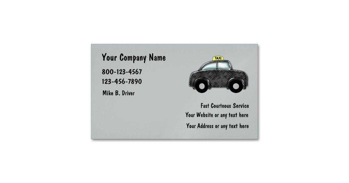 Taxi Service Magnetic Business Card | Zazzle.com