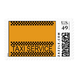 Taxi service with copy space left for text postage