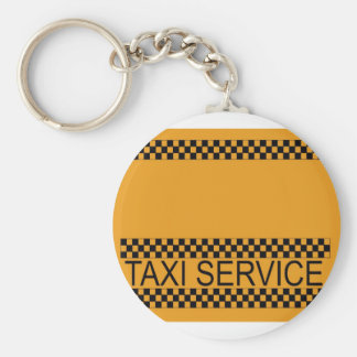 Taxi service with space for text basic round button keychain