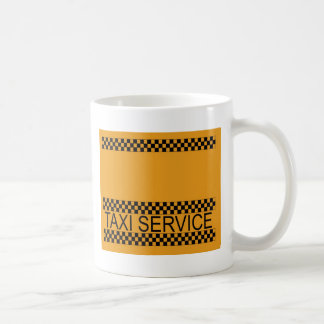 Taxi service with space for text coffee mug