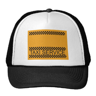 Taxi service with space for text hats