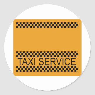 Taxi service with space for text stickers