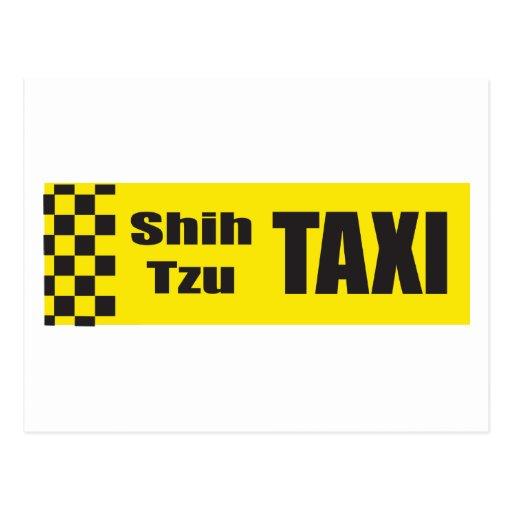 Taxi Shih Tzu Tarjeta Postal