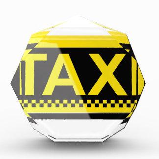 Taxi sign acrylic award