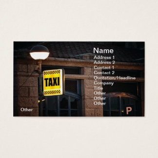 Taxi sign business card