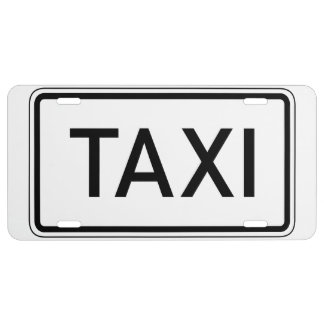 Taxi Sign for Front License Plate