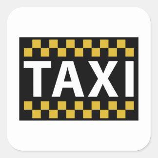 Taxi Square Sticker