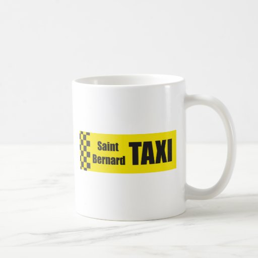 Taxi St Bernard Taza Básica Blanca