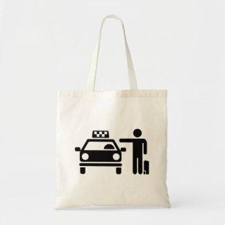 Taxi station passenger tote bag