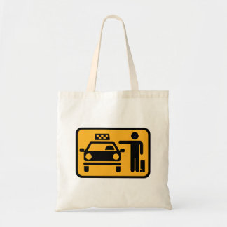 Taxi station tote bag