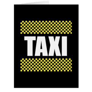 Taxi Tarjeta De Felicitación Grande