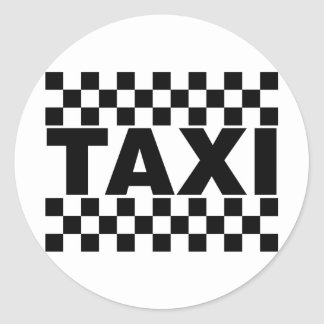Taxi ~ Taxi Cab ~ Car For Hire Classic Round Sticker
