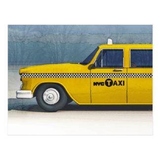 Taxicab card postcard
