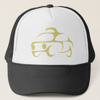 Taxicab in Swish Drawing Style Trucker Hat