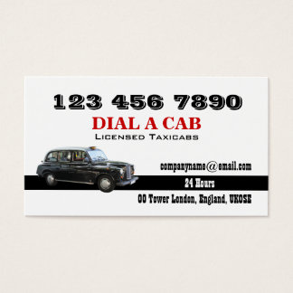 Taxicab n calendar british london business card