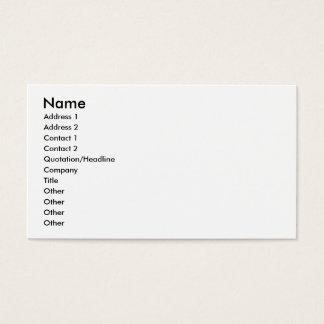 Taxicab receipt business card