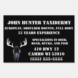 Taxidermy Business Sign