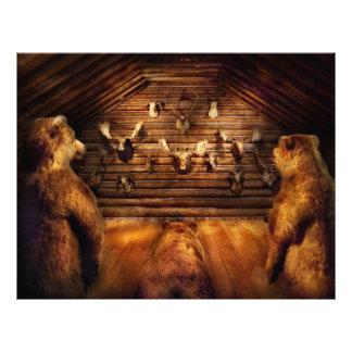 """Taxidermy - casero de los tres osos folleto 8.5"""" x 11"""""""
