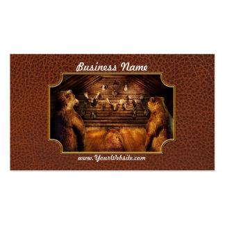 Taxidermy - casero de los tres osos plantillas de tarjeta de negocio