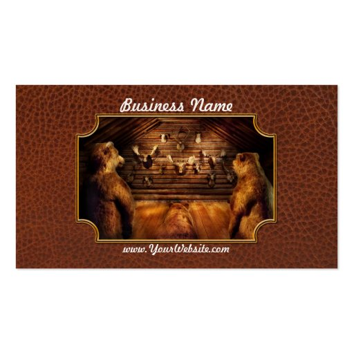 Taxidermy - Home of the three bears Business Card