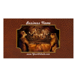 Taxidermy - Home of the three bears Double-Sided Standard Business Cards (Pack Of 100)