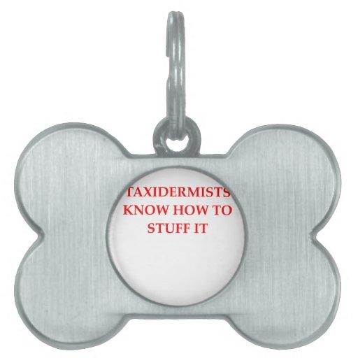 taxidermy placas de nombre de mascota