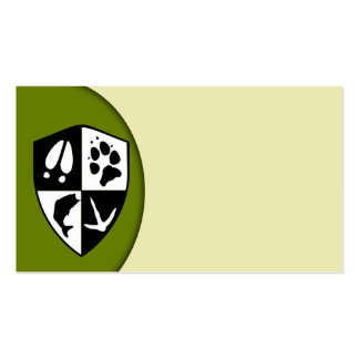 Taxidermy Shield Business Card