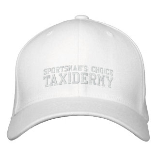 TAXIDERMY, SPORTSMAN'S CHOICE ALL WHITE HAT EMBROIDERED HATS