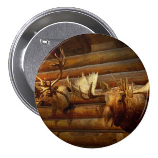 Taxidermy - The hunting lodge  Pinback Buttons
