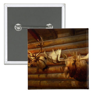 Taxidermy - The hunting lodge  Pinback Button