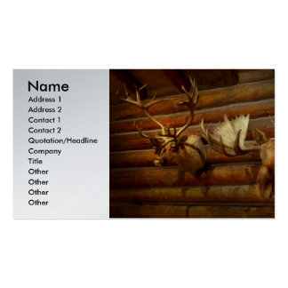 Taxidermy - The hunting lodge  Double-Sided Standard Business Cards (Pack Of 100)