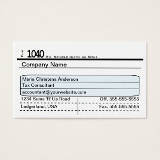Taxing Business Card