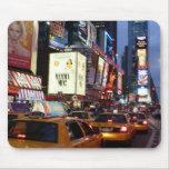Taxis cuadrados del tiempo alfombrillas de ratón
