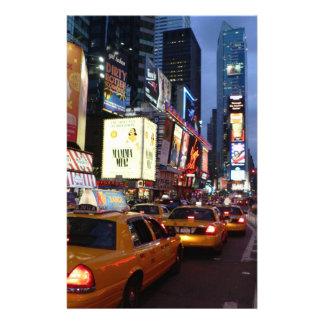 Taxis cuadrados del tiempo papelería de diseño