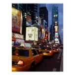 Taxis cuadrados del tiempo póster