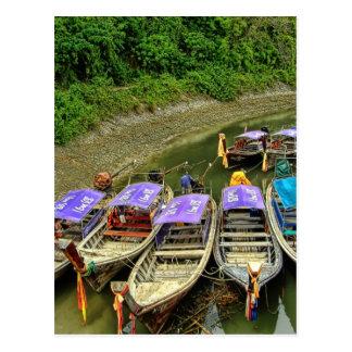 Taxis del agua de Krabi el | Tarjetas Postales