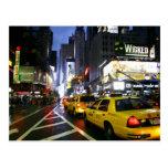 Taxis en Broadway Nueva York Postales