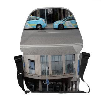 Taxis en Vilna Lituania Bolsas Messenger